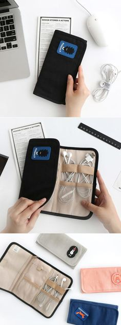 It features pockets and elastic bands to hold your items neatly and lets you can carry it conveniently by folding the organizer! You will love this organizer as it serves many different purposes wonderfully!