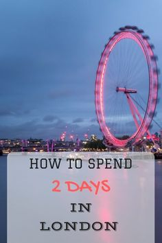 A Two day London itinerary sight-seeing guide that takes in all the major attractions, and includes some tips on saving money along the way!