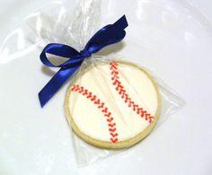 Handmade Custom Baseball Decorated Sugar Cookie Favors for Boy Birthday Boy Baby Shower Sport Theme Party