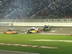 Big wreck with 6 and 13 and 32 got small piece of it. Under caution lap 114 P4. Went back to too tight #NASCAR