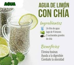 Lemon water with CHIA ! One Litter of water 4 lemons and 2 spoons of CHIA! Healthy Detox, Healthy Juices, Healthy Smoothies, Healthy Drinks, Healthy Life, Healthy Recipes, Vegan Detox, Detox Diet Drinks, Detox Juice Cleanse