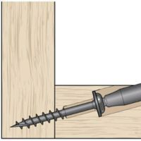 The typical rule is as follows: Set your Kreg Jig® for the thickness of material you are drilling the pocket hole in. Then, choose screw size based on thickness of the mating piece the screw will be entering in to. #WoodworkingTips