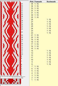 16 tarjetas, 2 colores, secuencia 7F-7B // sed_991 diseñado en GTT༺❁