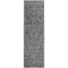 @Overstock - Hand-carved details and high/low pile highlight this hand-loomed Candice Olson rug. This rug has a damask pattern accented in grey.http://www.overstock.com/Home-Garden/Candice-Olson-Hand-woven-Carved-Grey-Wool-Rug-26-X-8/5714173/product.html?CID=214117 $218.70