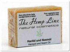 Hanf-Seife aus Hanföl und Neemöl - The Hemp Line - natural cosmetics #hanf #hemp #eco #bio #organic