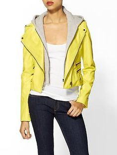 Lucca Couture Vegan Leather Neon Jacket | Piperlime