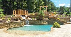 Photo courtesy of Lusk Pools Inc. - pool and water feature designs