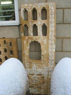 Stone Lamp Niche Panel From Jaisalmer - 18thC