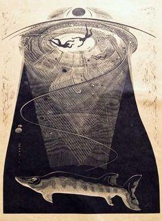 Gertrude Hermes (British, 1901-1983). Undertow. (wood engraving)