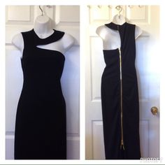 Black Maxi So beautiful all eyes will be on you! See the bold gold zipper at the back? You can make your slit however high you want! Please ask for exact measurements if you are serious about buying. Stretches. Price on this is firm. Dresses