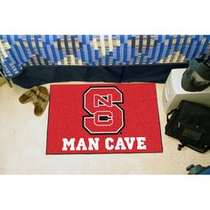 North Carolina State Wolfpack NCAA Man Cave Starter Floor Mat 20in x 3