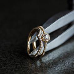 Modern meets classic. #oliverheemeyer Fine Jewelry, Jewelry Making, Stacking Rings, Luxury Jewelry, Custom Design, Jewelry Design, Wedding Rings, Engagement Rings, Elegant