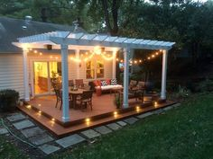 The pergola you choose will probably set the tone for your outdoor living space, so you will want to choose a pergola that matches your personal style as closely as possible. The style and design of your PerGola are based on personal Diy Pergola, Building A Pergola, Deck With Pergola, Wooden Pergola, Pergola Ideas, Pergola With Lights, Patio Ideas, Patio Gazebo, Small Pergola
