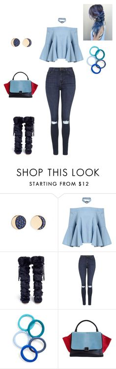 """Attractive"" by carlafashion-246 ❤ liked on Polyvore featuring Pamela Love, Gianvito Rossi, Topshop, L. Erickson and CÉLINE"
