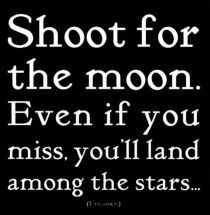 Shoot for the moon...needs to be wall art in boys' room