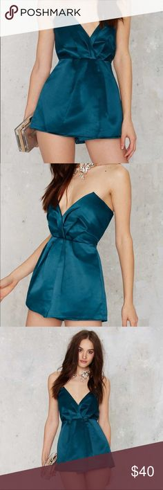 Nasty Gal Silky Pretty Lies Strapless Satin Romper ✨ Bundle & Save, No Trades ✨ Nasty Gal Dresses Mini