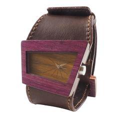 Quattro Unisex Wood Watch