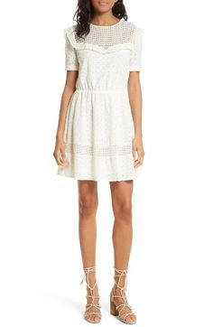 Free shipping and returns on Rebecca Minkoff Angeles Fit & Flare Dress at Nordstrom.com. Ready to soak up the sun and feel the warm summer breeze? Yeah, so are we. Do it in style with this pretty dress trimmed with feminine ruffles and charming eyelets.