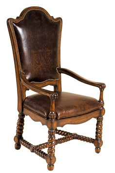 Dining Arm Chair in Walnut | Maitland-Smith | Home Gallery Stores