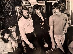The Band in the studio 1969 (Elliott Landy) All Band, Great Bands, Cool Bands, Music Icon, My Music, Garth Hudson, Robbie Robertson, Flute Sheet Music, Rock Of Ages