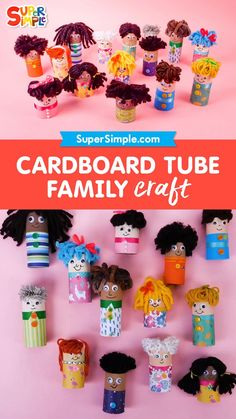 Families come in all different sizes, and each one is unique. This craft using cardboard tubes can be customized to be like your family, or you can use your imagination and make an entirely different family! No matter what your cardboard tube family looks like, make sure to make it with lots of love. Craft Projects For Kids, Easy Crafts For Kids, Diy Home Crafts, Craft Activities For Kids, Preschool Crafts, Holiday Crafts, Art For Kids, Diy Projects, Craft Ideas