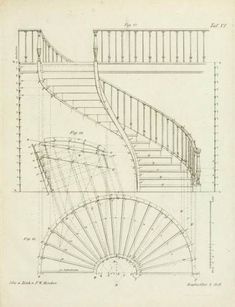 Ideas For Spiral Stairs Architecture Plan architecture drawing Ideas For Spiral Stairs Architecture Plan Staircase Railings, Spiral Staircase, Staircase Design, Plans Architecture, Architecture Details, Types Of Stairs, Stair Plan, Building Stairs, Stair Detail