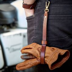 Personalised Leather Glove Holder by Man Gun Bear, the perfect gift for Explore more unique gifts in our curated marketplace. Diy Leather Gifts, Leather Craft, Handmade Leather, Vintage Leather, Leather Diy Crafts, Leather Apron, Tan Leather, Leather Belts, Diy Leather Gloves