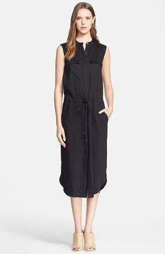 Vince Linen Blend Cargo Dress available at #Nordstrom