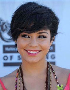 Vanessa Hudgens short stright black haircut
