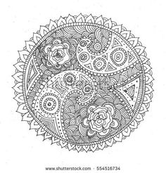 Hand drawn doodling mandala