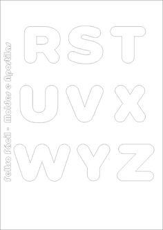 Elaboramos aqui uma sequencia de letras do alfabeto que você deve ter junto aos seus moldes para produção de trabalhos em feltro! O tam...