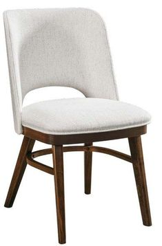 Amish Vinson Dining Side Chair Completely contemporary. Quality materials. The Vinson is Amish made in America. Customize with choice of wood, stain and upholstery. #customfurniture