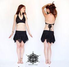 Faery lace tutu skirt. Lace skirt. Pixie lace skirt. Bohemian