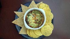 spinach artichoke dip, no mayo! just cream cheese, garlic, asiago, and grey poupon