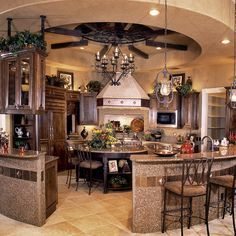 Circular Kitchen Design Idea