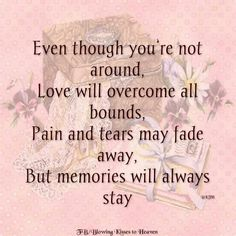But memory will always stay Sorrow Quotes, Blowing Kisses, I Missed, Grief, Heaven, Memories, Memoirs, Sky, Souvenirs