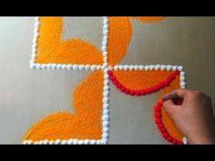 Swastik rangoli design for festival - YouTube