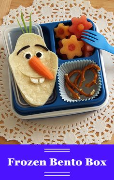 Just like Olaf loves his warm summer days, we love cute food art lunches inspired by our favorite characters from Frozen! This Disney Bento Box recipe has got it all — it's nutritious, it's delicious, and it's sure to please even the pickiest eaters at lunch.