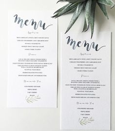 A breathtaking urban dunedin wedding by acorn photograpahy watercolor and calligraphy wedding menu with leaves olive leaf printed stopboris Gallery