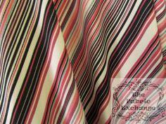 Pink and Black Stripes Spandex www.thefabricexchange.com