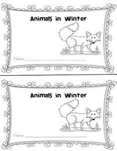 First Grade and Fabulous: Animals in Winter *FREEBIE*
