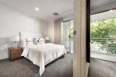 #bedroom #homedesign #interior # Whitelinen #slidingdoors #balcony