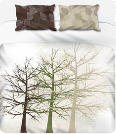 Tree Silhouette - 3 Light Tones - Duvet Set – LCV Designs & Decor