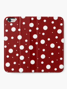'Red Mushroom, asymetric polka dot pattern, white circles' iPhone Wallet by cool-shirts Iphone Wallet, Iphone Cases, Samsung Galaxy Cases, Mobile Accessories, Mobile Cases, Tech Gadgets, Cool Shirts, Circles, Mushroom