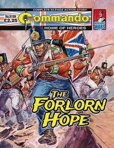 "Commando ""The Forlorn Hope"" [Napoleonic Wars] Comic Book Covers, Comic Books, Action Story, Marine Commandos, Adventure Magazine, War Film, War Comics, Saturday Morning Cartoons, Adventure Movies"