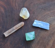 A little bag of gemstones to support you as you dig in deep and unearth your stories and your truth and look at where you've been and where you want to go in your life. This gemstone bundle includes: A rainbow fluorite octahedron to connect you to your intuition A kyanite to help you speak your truth. A golden healer quartz point to help facilitate change. A citrine to bring clarity, to connect you to the creative child inside you, and to bring joy.