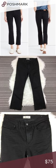 "Madewell Cali Denim boot High Rise Jeans Good condition, no flaws; waist 14.5"", rise 10"", inseam 26"" Madewell Jeans Ankle & Cropped"