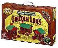 Lincoln Logs--with carry box,storage