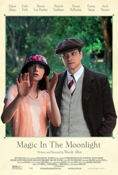 Magic in the Moonlight (2014). A wonderful character piece starring Emma Stone and Colin Firth. In this romantic comedy by Woody Allen, an Englishman is brought in to unmask a possible swindle. Set in the South of France in 1928.