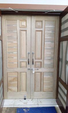 House Main Door Design, Pooja Door Design, Single Door Design, Wooden Front Door Design, Wooden Double Doors, Double Door Design, House Ceiling Design, Bedroom Door Design, Door Gate Design
